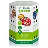 Fridge Boost Refrigerator Vegetable Saver and Deodorizer with Zeolite and Activated Charcoal - Non-Toxic Odor Absorber for Fridge and Freezer to Help Keep Food Fresh Longer - Pack of 1