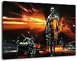 Dark Battlefield Format 60x40 cmfertig gerahmte