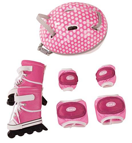Götz 3402277 Inline-Skates Set - Inliner Venice Beach Puppenbekleidung Gr. XL - 7-teiliges Bekleidungs- und Zubehörset für Stehpuppen von 45 - 50 cm