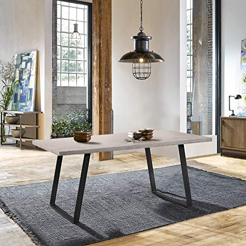 Armen Living Coronado Dining Table, Cement Gray
