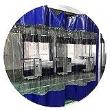 KUAIE Lona Impermeable Transparente Cortina Impermeable 0,5mm con Ojales Lona Impermeable a Prueba de Polvo para Cenador Balcón Pérgola (Color : Clear Blue, Size : 3.8x2.5m)