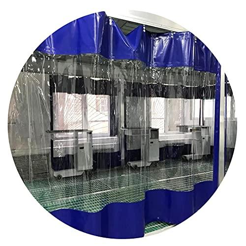 KUAIE Telo Copertura Impermeabile Trasparente Tenda Impermeabile 0,5mm con Occhielli Telo Antipolvere Antipioggia per Pergolato Balcone Gazebo (Color : Clear Blue, Size : 4.6x2.5m)