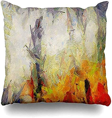 SSHELEY Kussensloop of kleurstijl wassen artistieke grafische kleur olietextuur digitaal design schilderij kleurrijke kussensloop