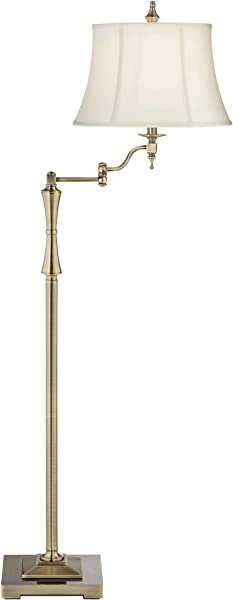Granville Antique Brass Swing Arm Floor Lamp