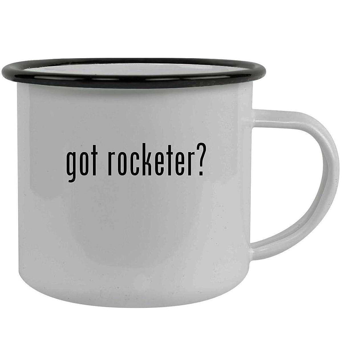 got rocketer? - Stainless Steel 12oz Camping Mug, Black
