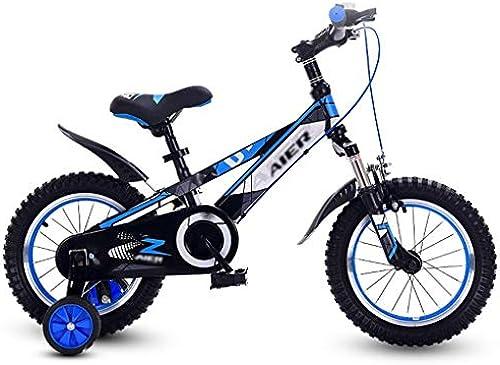 Kinderfürr r fürr r Outdoor-Roller Für Kinder Junge mädchen fürrad 315 Jahre Alte Heimtrainer Dreirad Kinder-Mountainbike Kinderwagen (Farbe   Blau, Größe   16inches)