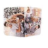 Cartera De Bolsillo Corta con Foto Personalizada Monedero con Imagen Titular De La Tarjeta De Crédito Cartera Plegable con Cierre A Presión Ideas De Aniversario De Cumpleaños(Rosa-Doble Cara)