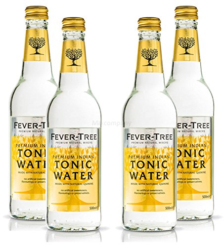 Fever-Tree Premium Indian Tonic Water 4 x 500 ml = 2000 ml – Incluye depósito