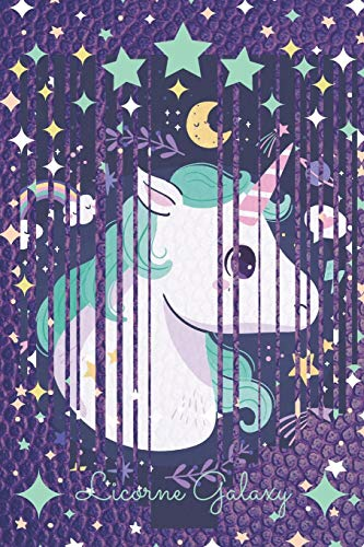 Licorne Galaxy: Carnet de note ligné pour filles aimant les chevaux, les licornes, et la galaxy - mini format 6x9 pouces (proche du A5)