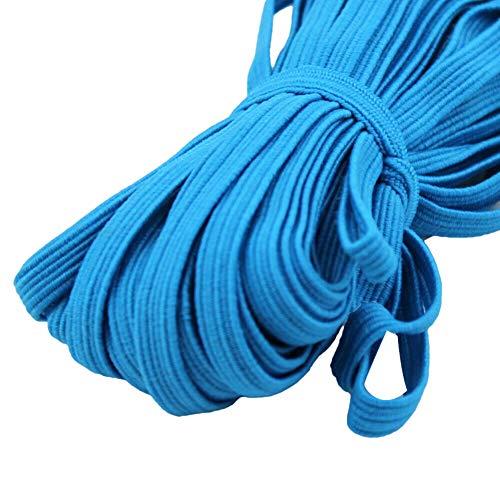 XQxiqi689sy Corda Elastica per Uso Domestico 6mm 33 Yards per Cucire Braccialetti con Collana per Notebook con Coperchio per Facciali Fai-da-Te Blu Scuro