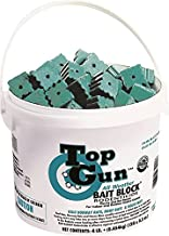 JT Eaton 750 Top Gun Bait Block Rodenticide with Stop-Feed Action and Bitrex for Mice and Rats (128-Pack)