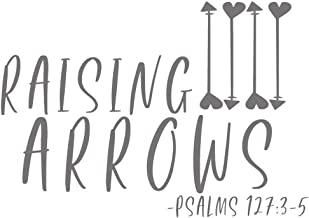 Creative Concepts Ideas Raising Arrows Psalms Christian CCI Decal Vinyl Sticker|Cars Trucks Vans Walls Laptop|Gray|7.5 x 4.5 in|CCI2403