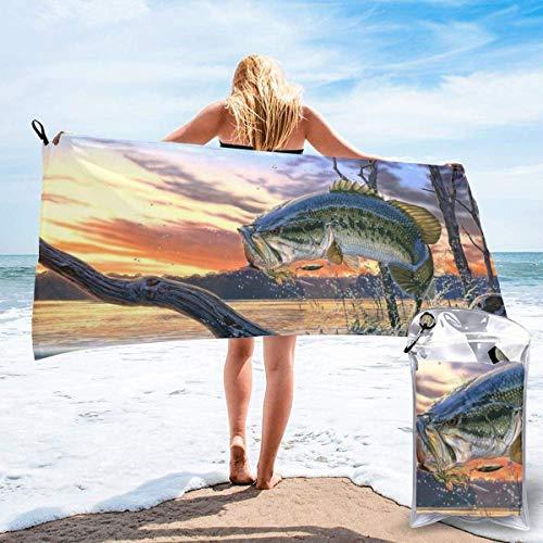 CHUNXU Toalla de playa de secado rápido, toalla de baño de...