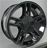 OE Wheels LLC 20 inch Rim Fits Ford F-150 Harley Wheel FR81 20x9 Black Wheel Hollander 3410
