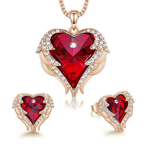 CDE Angel Wing Heart Necklaces and Earrings Christmas...
