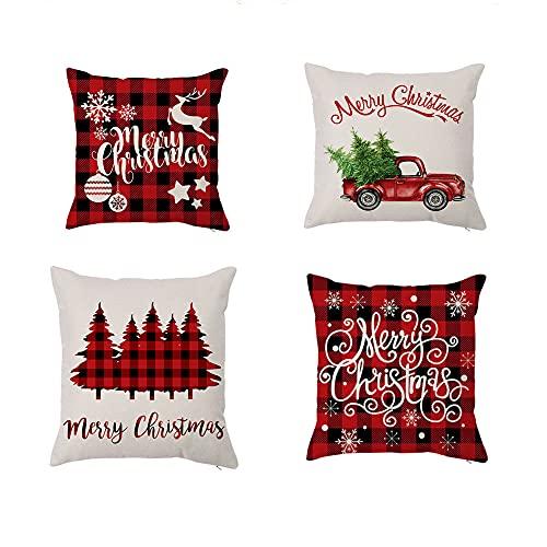 Cojines Navideños Para Sofa Blancos cojines navideños  Marca Moxamo