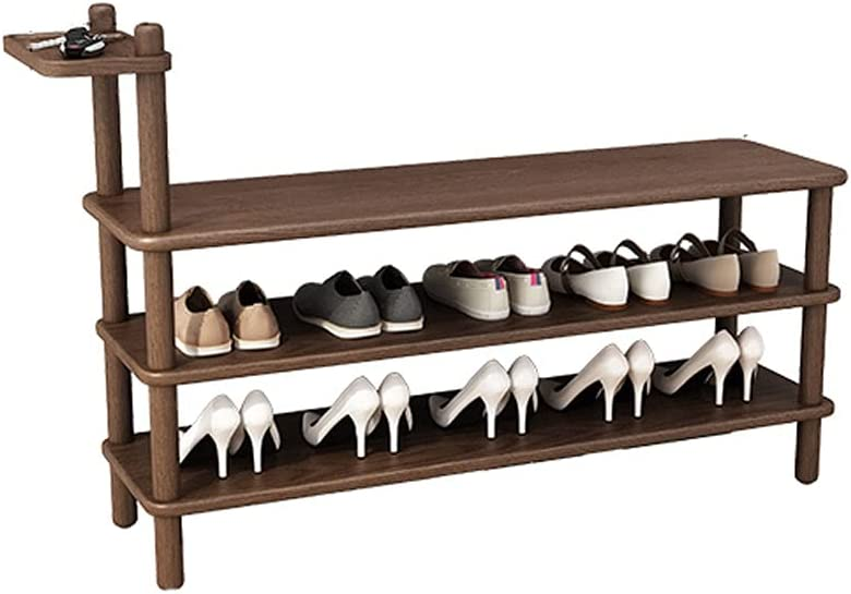 Weimingshop Solid Wood Shoe Rack Bench Organi Spring new Special price work one after another 2-Tier Shelf