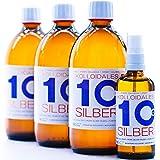 1600ml Plata coloidal PureSilverH2O / 3 x Botellas (cada 500ml/10ppm) Plata coloidal...