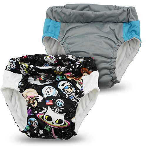 Kanga Care Sac imperméable Lil learnerz Formation couches (M, tokispace et platine)
