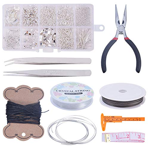 LEAMALLS 10 Ranuras fabricación de Joyas Herramientas Reparación de Joyas Kits para Hacer bisutería Collares y Pulseras y Pendientes Accesorios artesanía