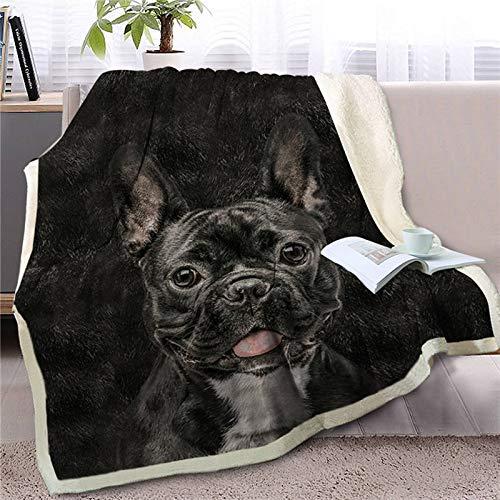 Manta para Perro con impresión Bajeoiu-3D, Manta súper Suave y cómoda, Adecuada para Individual / Doble / Adulto, Manta para niños, Mantas de Cama,Mantas de sofá, Tirar Manta,130 × 150 cm