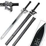 Sword Art Online SAO Medium Carbon Steel with Sheath-Kirito Elucidator, Asuna, Kirigaya (Kirito Elucidator Version 2)