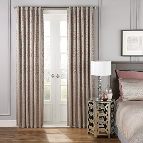 """BEAUTYREST Blackout Curtains for Bedroom - La Salle 52"""" x 95"""" Insulated Darkening Single Panel-Rod Pocket Window Treatment, Orchid"""