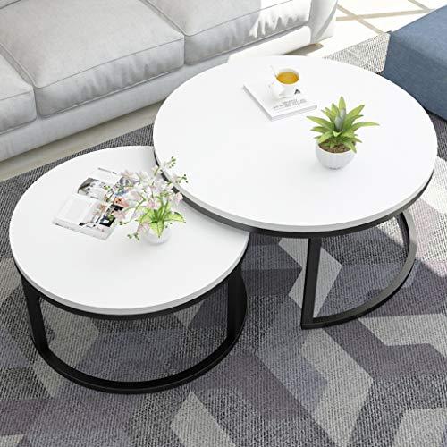 Mesas de Centro Blancas Redonda Marca YF-Mirror