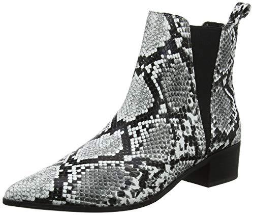 Buffalo Damen Finola Stiefeletten, Mehrfarbig (Black/White Snake 001), 40 EU