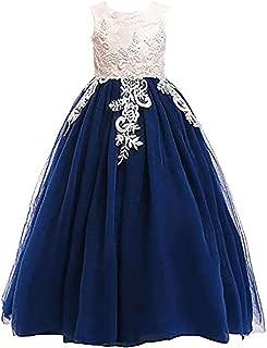 3-16Y Big Girls Lace Bridesmaid Dress Flower Kid Wedding Ball Gown