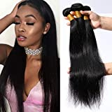 18'18'18' Tissage Bresilien en Lot Mèches Bresiliennes Lisse - Extension Cheveux Naturel Noir Naturel