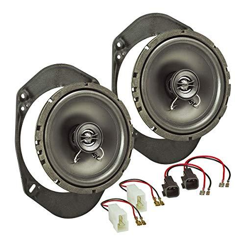 tomzz Audio 4015-000 Lautsprecher Einbau-Set passend für Ford Fiesta KA Focus Mondeo 165mm Koaxial System TA16.5-Pro