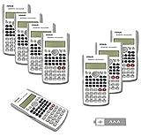 RENUS Wissenschaftlicher Taschenrechner, Zweizeilig Funktionsrechner Für Schüler und Lehrer (Weiß, 8PCS)