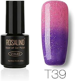 ROSALIND gel de uñas barniz esmalte camaleón cambio de temperatura brillo Empapa UV LED barniz manicura pedicura salón 7 m...