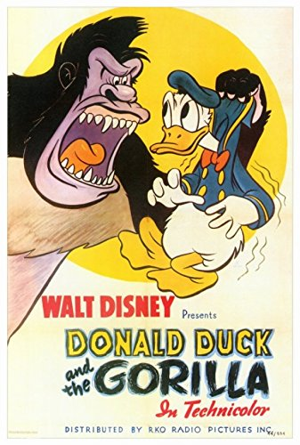 Donald Duck and The Gorilla Movie Poster (68,58 x 101,60 cm)