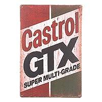カストロールGTXモーターオイルヴィンテージガレージメタルブリキサインウォールプラーク-20x30cm