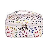 HOYOFO Travel Make up Bag Big Cosmetic Case Storage Bag with Adjustable Dividers for Women and Girls (Butterfly)