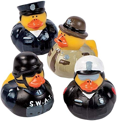 Law Enforcement Rubber Duckies | for Police Party Decorations, Police Dress Up, Cops and Robbers Role Play | Police Appreciation Party Theme