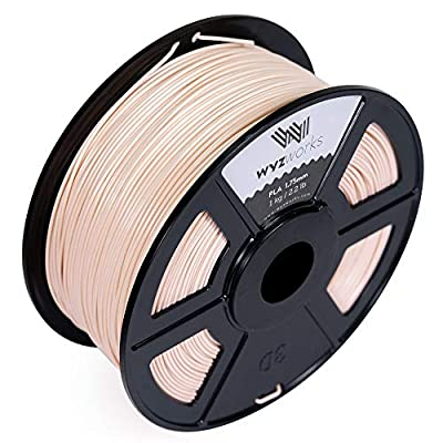 WYZworks PLA 1.75mm Premium Thermoplastic Polylactic Acid 3D Printer Filament - Dimensional Accuracy +/- 0.05mm 1kg / 2.2lb [ Multiple Color Options Available ]