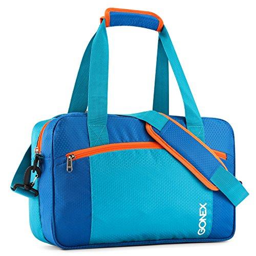Gonex 25L Sporttasche, Trocken Nass Getrennter Sportbeutel, wasserdichte Schwimmtasche mit Reißverschluss, Badetasche für Damen Herren Kinder