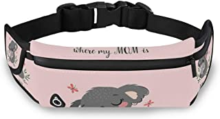 SLHFPX Fanny Pack Jumping Dolphin Running Belt, Hip Fashionable, Belt Bags, Waist Bag, Travel Pocket, Money Belt,Wasit Pack Bag,Hip Bum Bag with Strap and Headphone Hole for Women Men
