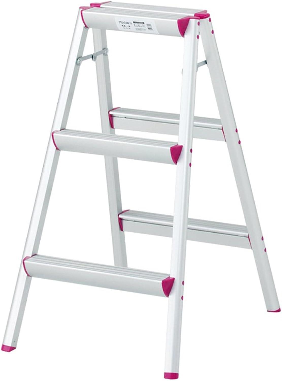 QFFL tideng Step Stools Home Folding Three Step Step Stool Plus Thick Aluminum Portable Stool (Size   47  66CM)