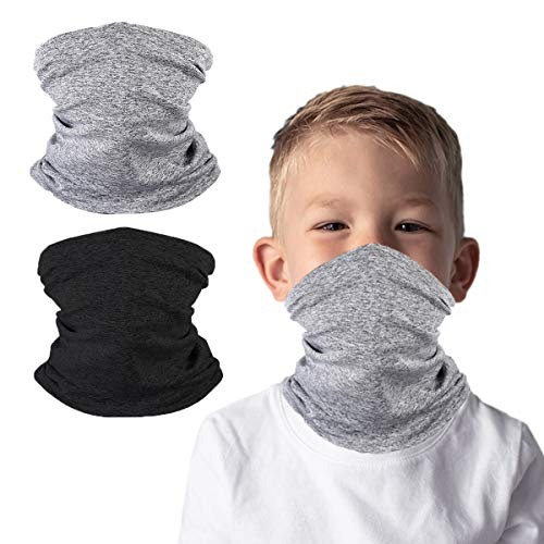Kids Face Cover Neck Gaiter for Cycling Hiking Fishing Sport Outdoor, Magical Multi Fction, Washable and Reusable