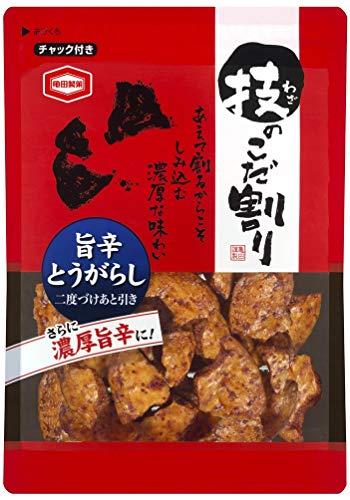亀田製菓 技のこだ割り旨辛とうがらし 110g×6袋