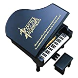 The Legend of Zelda Music Box Windup Engraved Wood Piano Musical Box,Musical Gift,Play Song of Storms from Ocarina of Time,Black