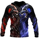 Wolf 3D All Over Printed Unisex Hoodie Hombres Sudadera Streetwear Zip Pullover Chaqueta Casual Chándal Hoodies 2XL
