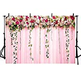Photographie de Mariage Toile de Fond Rose Floral fête d'anniversaire décorations Photo Booh Toile de Fond célébration événement bannière