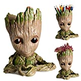 Arbusb Office Decor Grut Planter with Depth of 3.5',Tiny Succulents Plants Pots or Pens Holder ,Storage Container and Best Gifts for Girls,Boys,Women (Love)