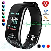Fitness Tracker, Color Screen Activity Tracker Watch with Blood Pressure Blood Oxygen, IP67 Waterproof Smart Band with Heart Rate Sleep Monitor Calorie Counter Pedometer for Men,Women and Kids