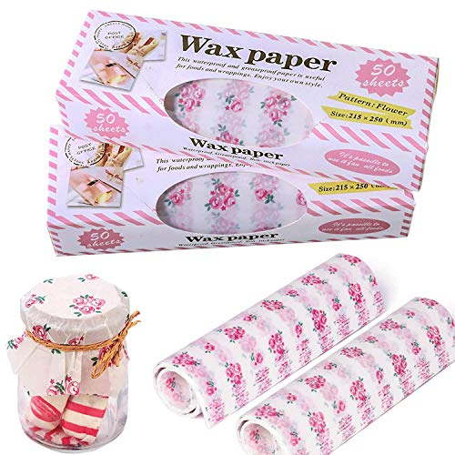 Square Hamburger Wrapping Paper for Food Picnic, Autoor Resistant Waterproof Greaseproof Wax Paper Sheets , Pink Deli Tissue Paper for Baking Cooking Frying and Wrapping Cheese